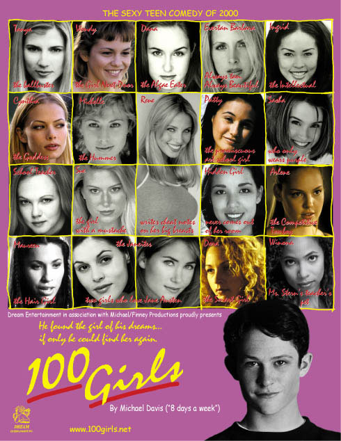 "poster for ""One Hundred Girls"" by Michael Davis(2000)"