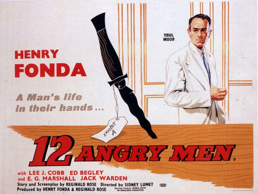 "poster for ""12 angry men"" by Sidney Lumet(1957)"