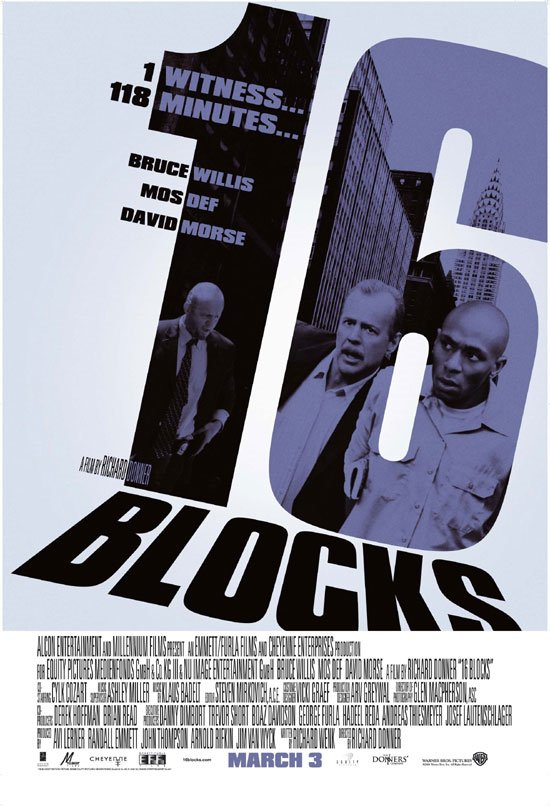 "poster for ""16 Blocks"" by Richard Donner (2006)"