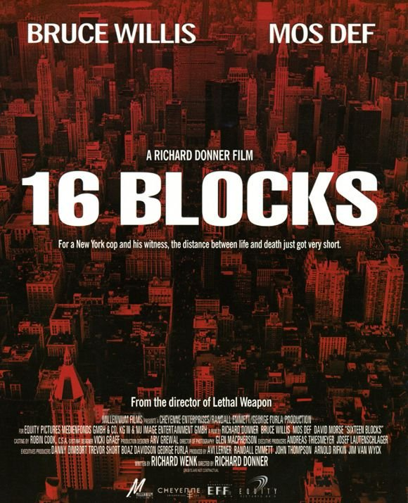 "poster for ""16 Blocks&quot"