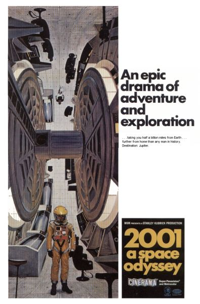 "poster for ""2001: a Space Odyssey&quot"