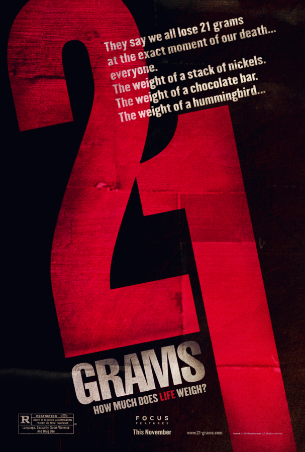"poster for ""21 Grams"" by Alejandro Gonz�lez I��rritu(2003)"