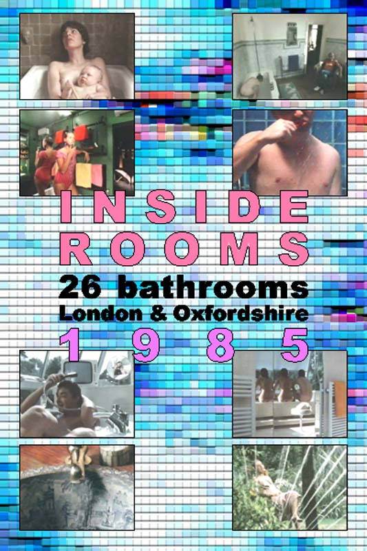 "poster for ""Inside Rooms: 26 Bathrooms, London & Oxfordshire, 1985"" by Peter Greenaway (1985)"