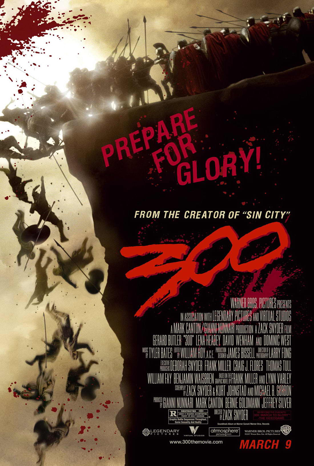"poster for ""300"" by Zack Snyder(2006)"