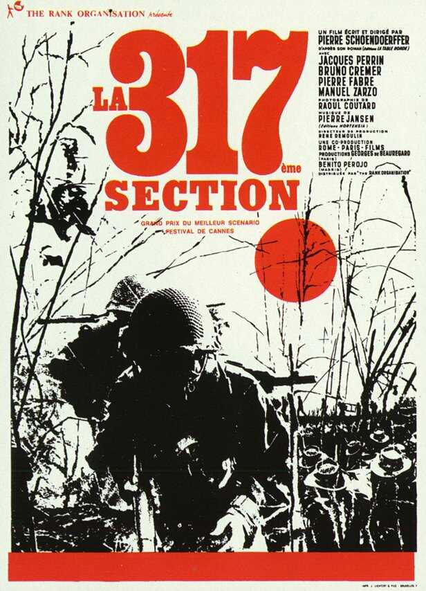 "poster for ""317e Section, La"" by Pierre Schoendoerffer(1965)"
