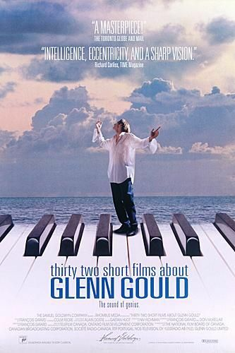 "poster for ""Thirty Two Short Films About Glenn Gould"" by Fran�ois Girard(1993)"