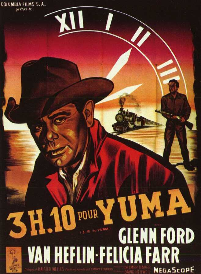 "poster for ""3h10 to Yuma"" by Delmer Daves(1957)"