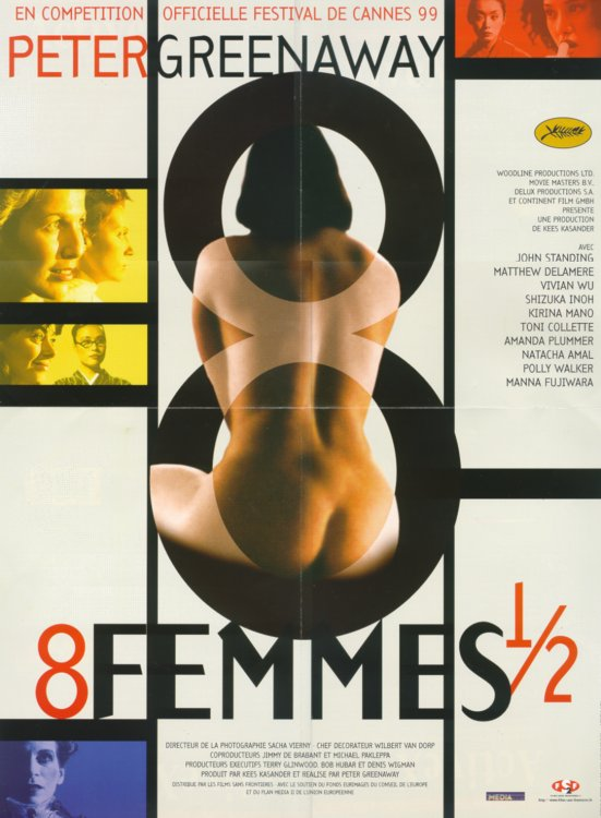 "poster for ""8 1/2 Women"" by Peter Greenaway(1999)"