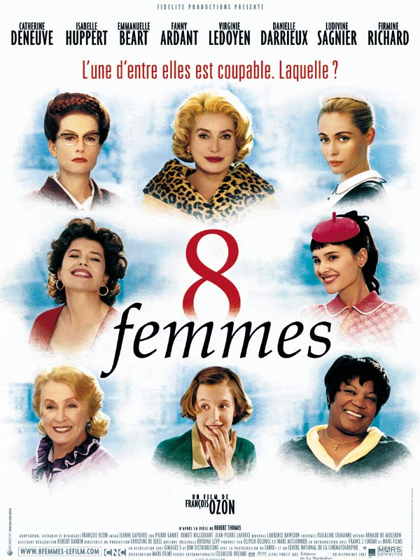 "poster for ""8 Femmes (8 Women)"" by Fran�ois Ozon (2002)"