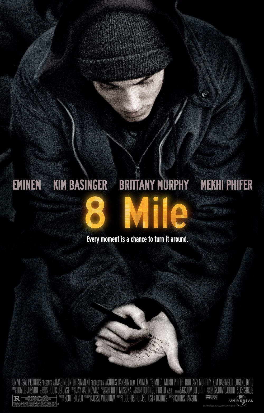 "poster for ""8 Mile"" by Curtis Hanson(2002)"
