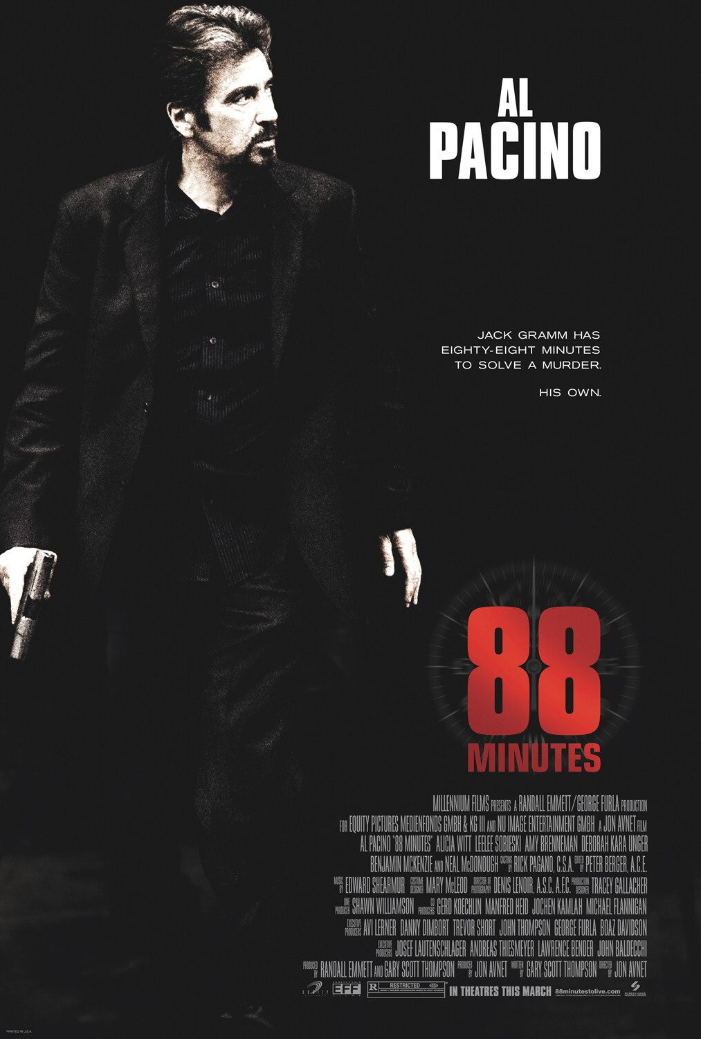 "poster for ""88 Minutes"" by Jon Avnet(2007)"