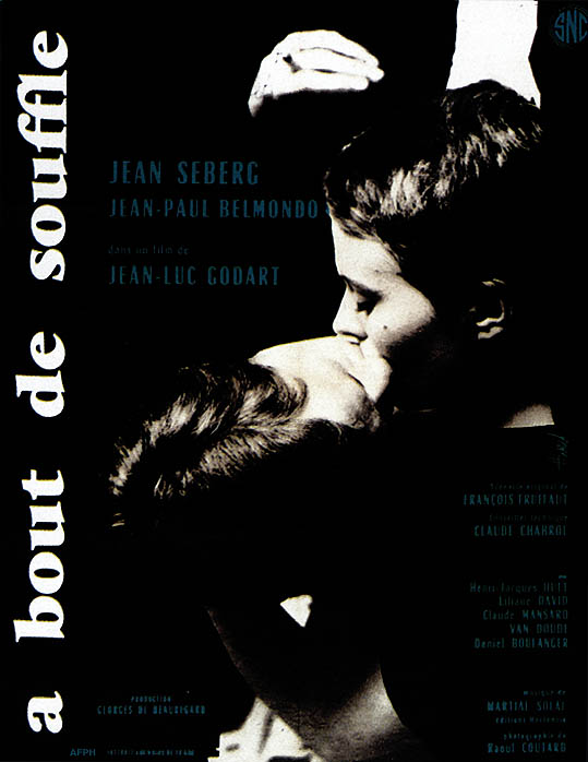movie posters for movieid 198 a bout de souffle breathless 1960 by jean. Black Bedroom Furniture Sets. Home Design Ideas