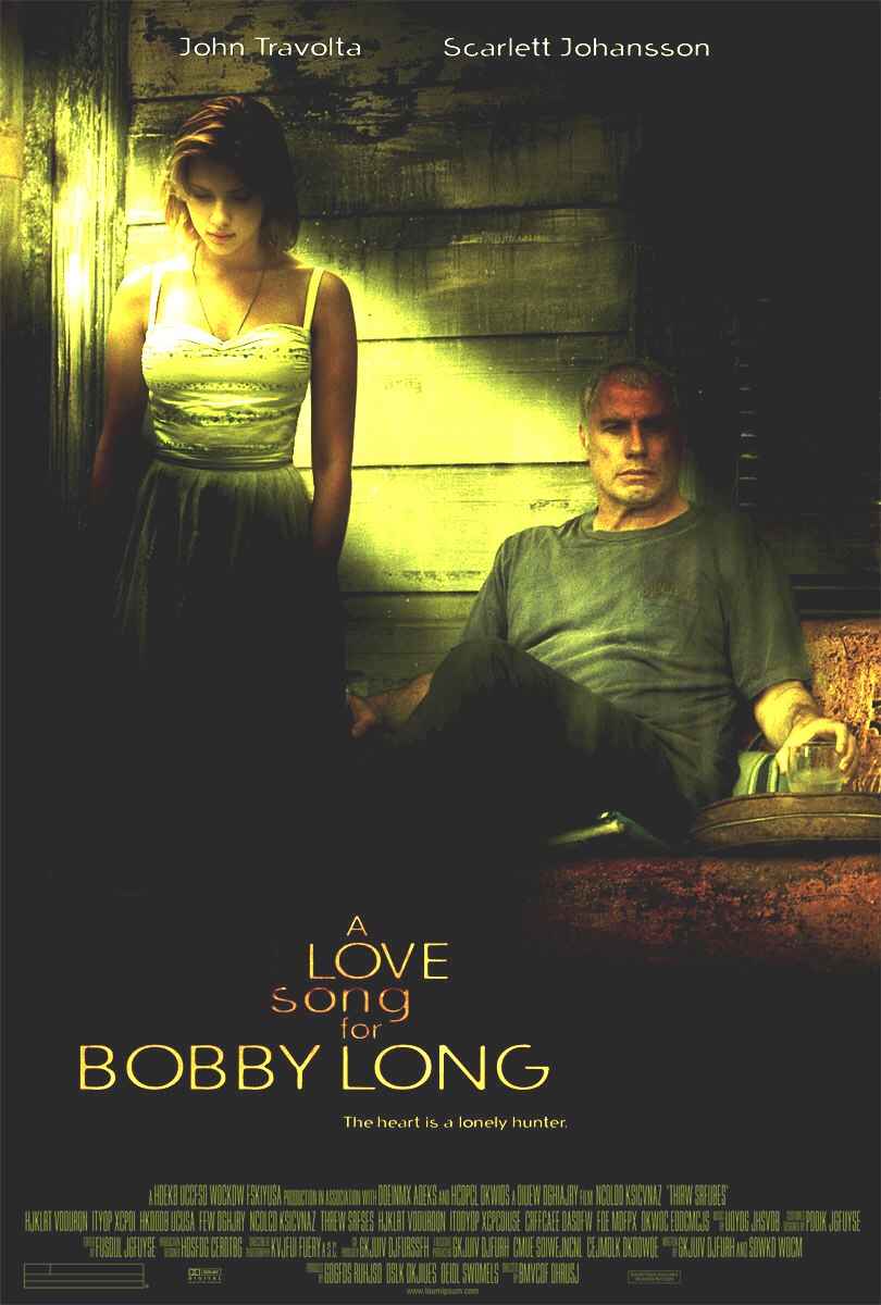 "poster for ""A Love Song For Bobby Long"" by Shainee Gabel(2004)"