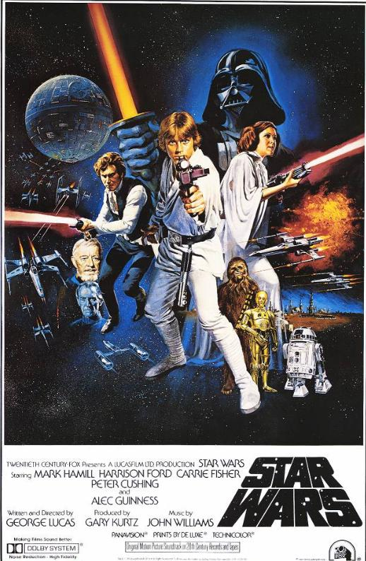 "poster for ""Star Wars: Episode IV - A New Hope"" by George Lucas(1977)"