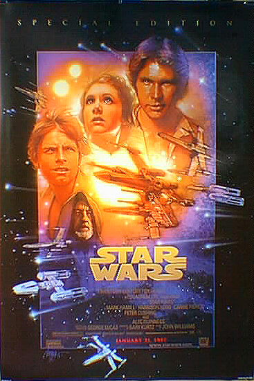 "poster for ""Star Wars: Episode IV - A New Hope&quot"