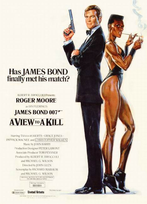 "poster for ""A View to a Kill"" by John Glen(1985)"