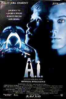 "poster for ""A. I. Artificial Intelligence&quot"