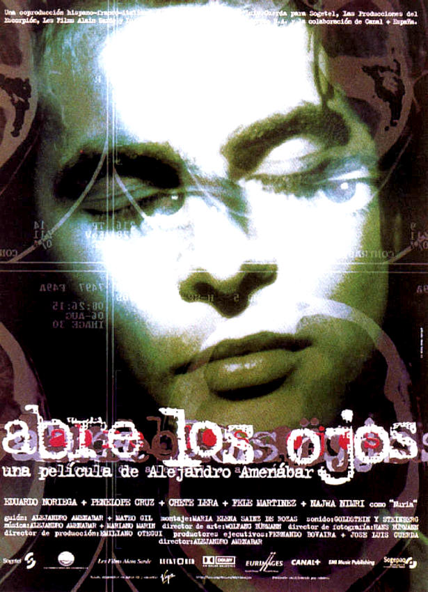 "poster for ""Abre Los Ojos"" by Alejandro Amen�bar (1997)"
