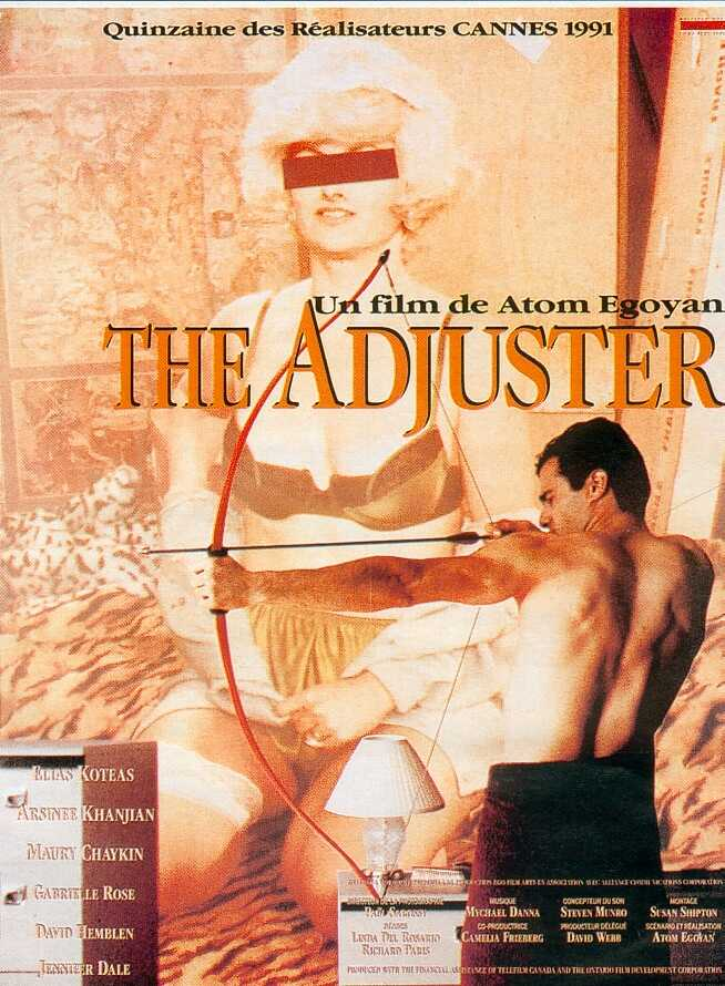 "poster for ""Adjuster, The"" by Atom Egoyan(1991)"