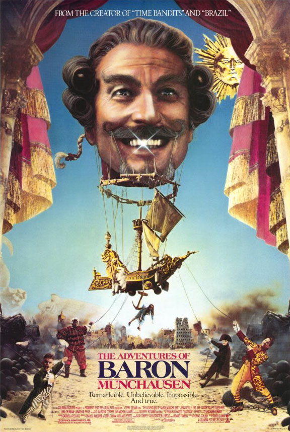 "poster for ""Adventures of Baron Munchausen, The"" by Terry Gilliam (1988)"