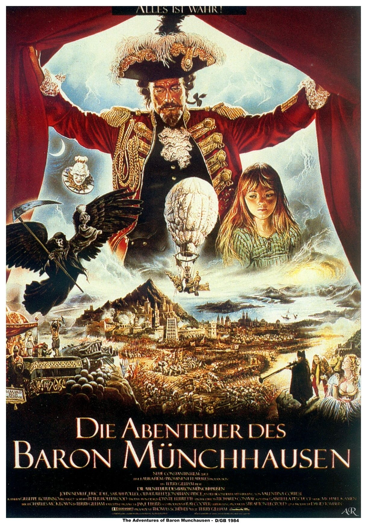 "poster for ""Adventures of Baron Munchausen, The&quot"
