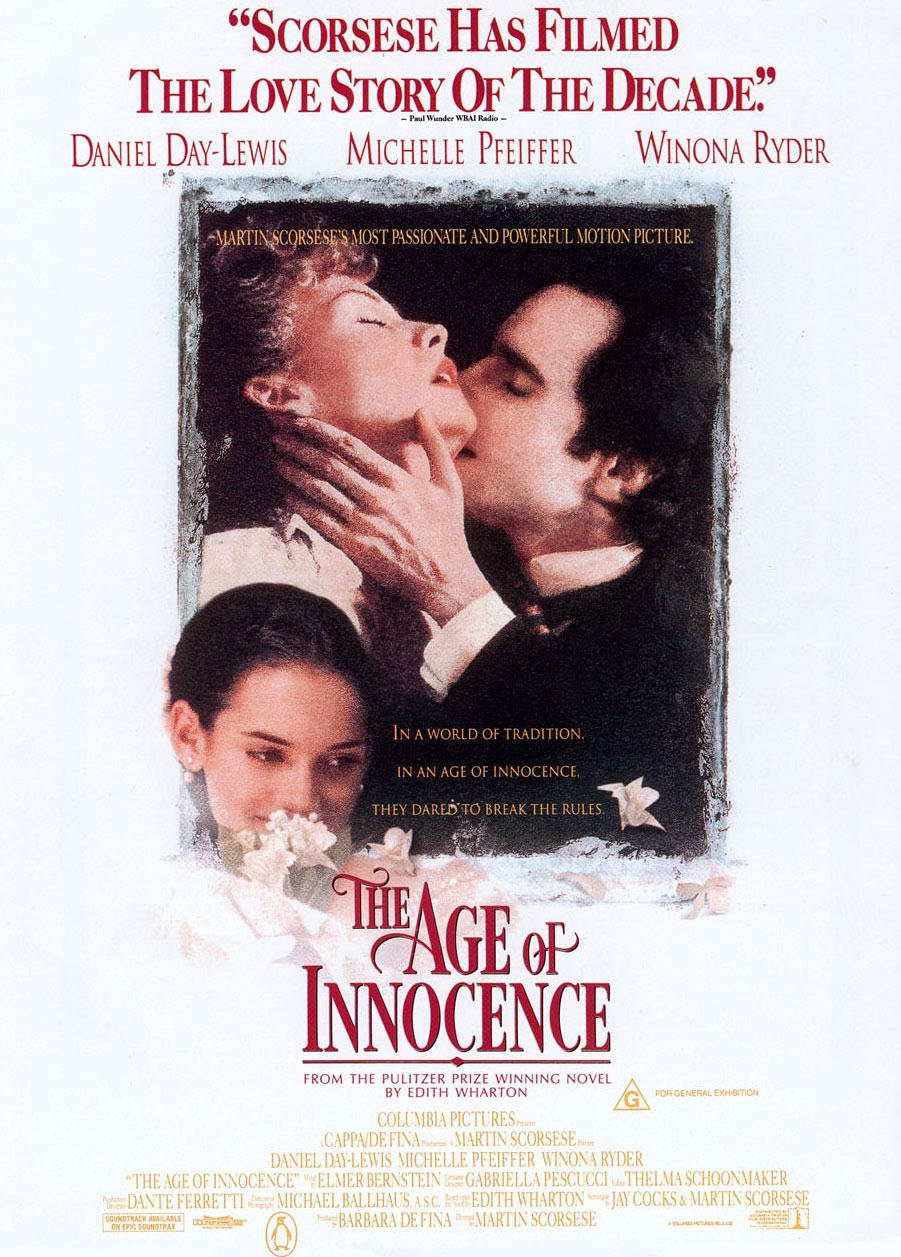 "poster for ""Age of Innocence, The"" by Martin Scorsese(1993)"