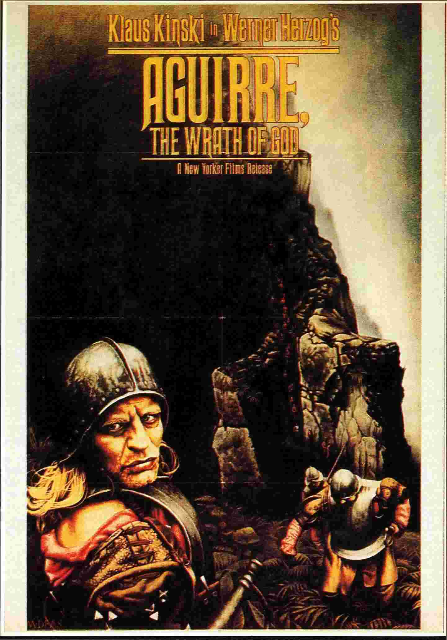 "poster for ""Aguirre der Zorn Gottes (Aguirre, The Wrath of God)"" by Werner Herzog (1973)"