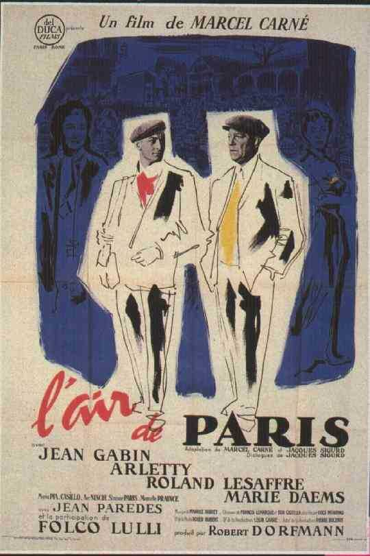 "poster for ""Air de Paris, L'"" by Marcel Carn�(1954)"
