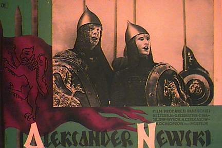 "poster for ""Aleksandr Nevsky&quot"