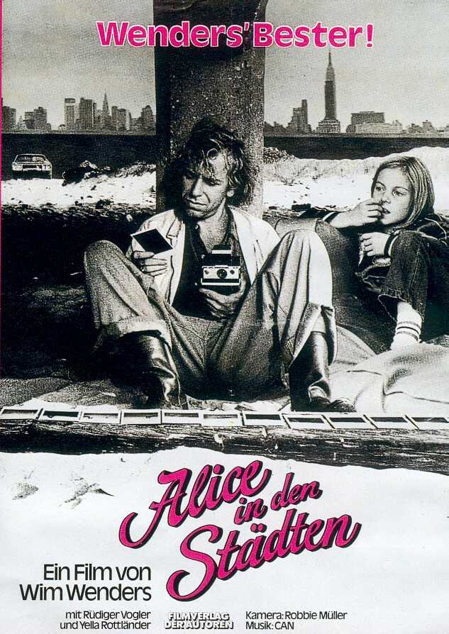 "poster for ""Alice in den St�dten (Alice in the Cities)"" by Wim Wenders(1974)"