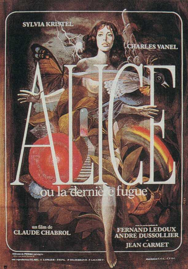 "poster for ""Alice ou la Derni�re fugue"" by Claude Chabrol(1977)"