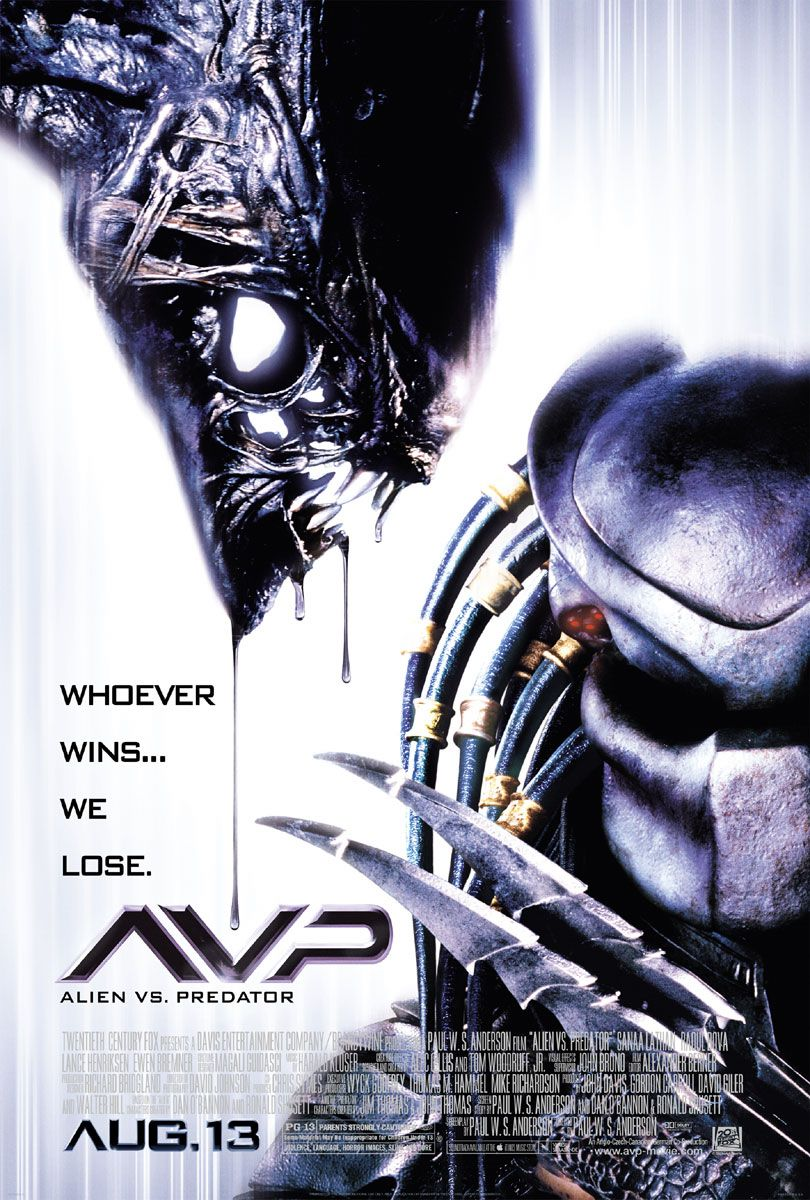 "poster for ""Alien vs Predator"" by Paul W.S. Anderson(2004)"