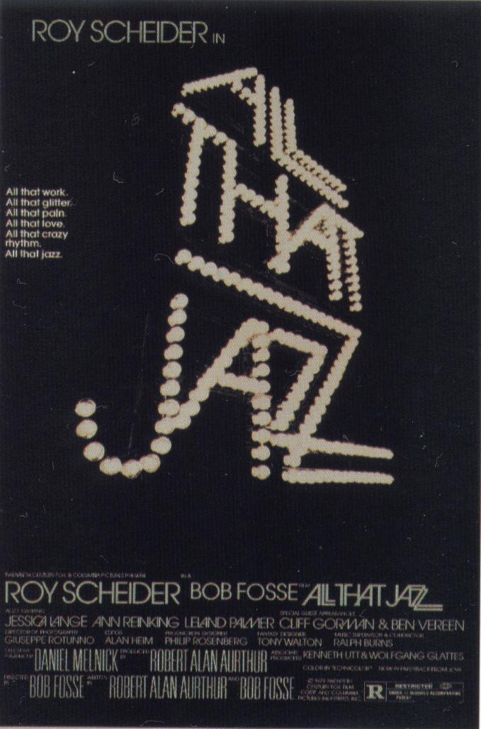 "poster for ""All That Jazz"" by Bob Fosse (1979)"