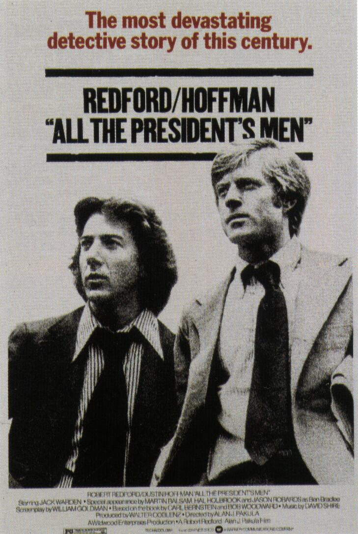 "poster for ""All the President's Men"" by Alan J. Pakula(1976)"