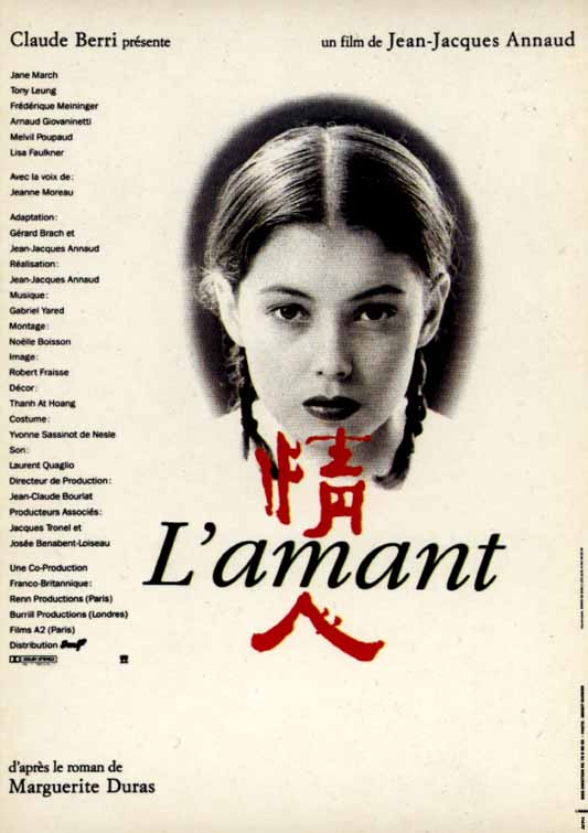 "poster for ""Amant, L'"" by Jean-Jacques Annaud (1991)"