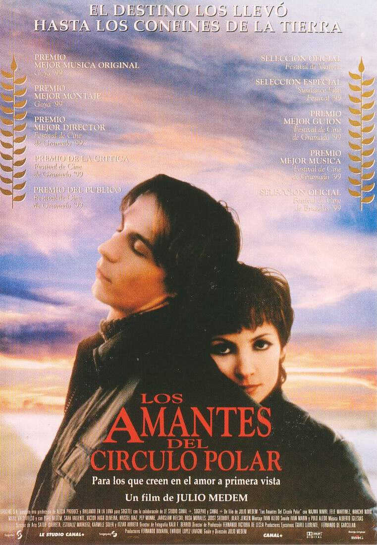 "poster for ""Amantes del C�rculo Polar, Los (Lovers of the Arctic Circle)"" by Julio Medem (1998)"