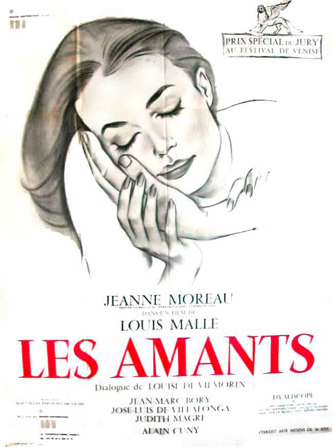 "poster for ""Amants, Les"" by Louis Malle(1958)"