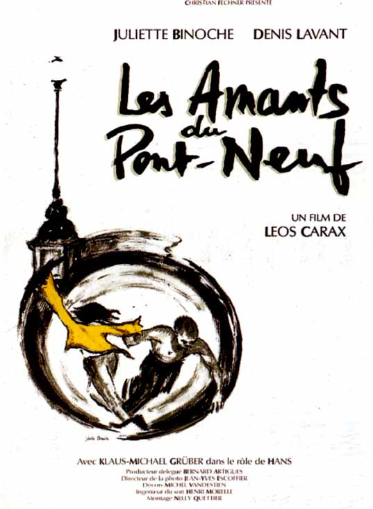"poster for ""Amants du Pont-Neuf, Les"" by Leos Carax(1991)"