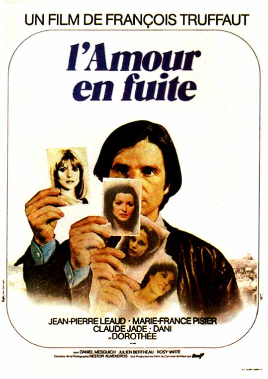 "poster for ""Amour en Fuite, L'"" by Fran�ois Truffaut(1979)"