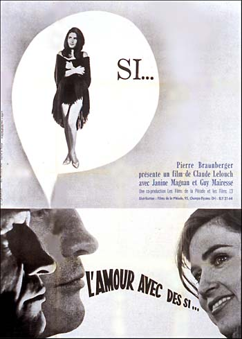 "poster for ""Amour avec des si, L'"" by Claude Lelouch (1962)"
