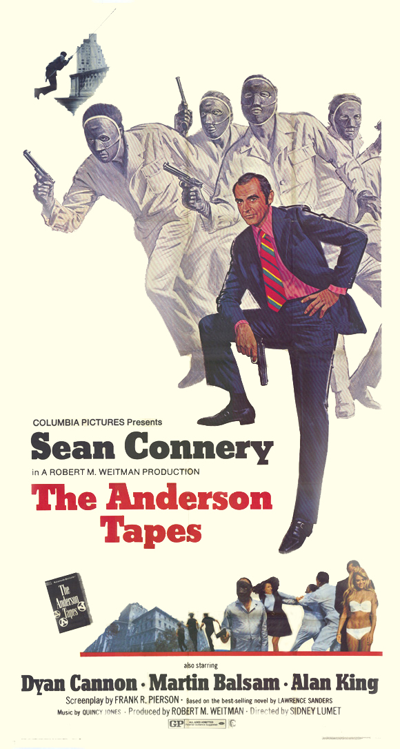 "poster for ""Anderson Tapes, The"" by Sidney Lumet(1971)"