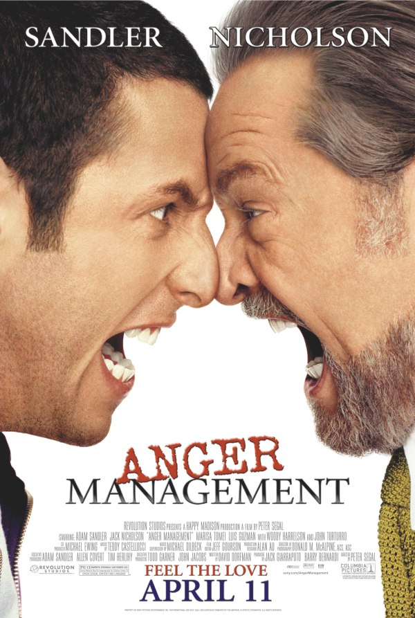 "poster for ""Anger Management"" by Peter Segal (2003)"