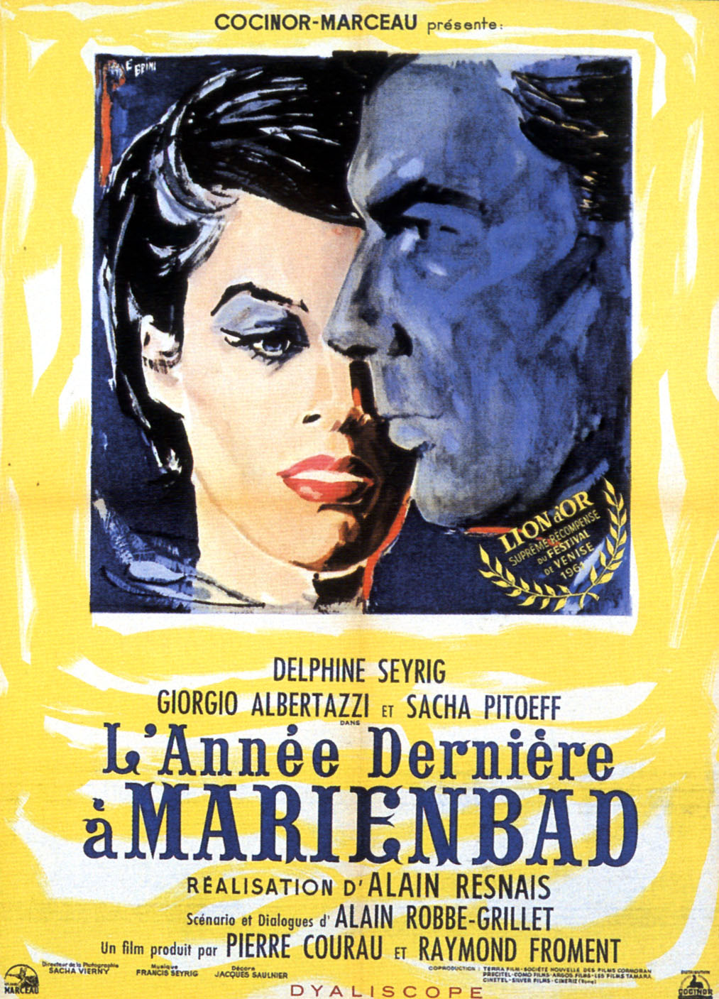 "poster for ""Ann�e derni�re � Marienbad, L'"" by Alain Resnais(1961)"