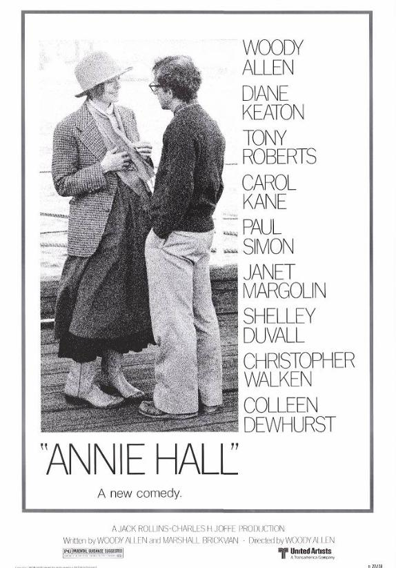"poster for ""Annie Hall"" by Woody Allen(1977)"
