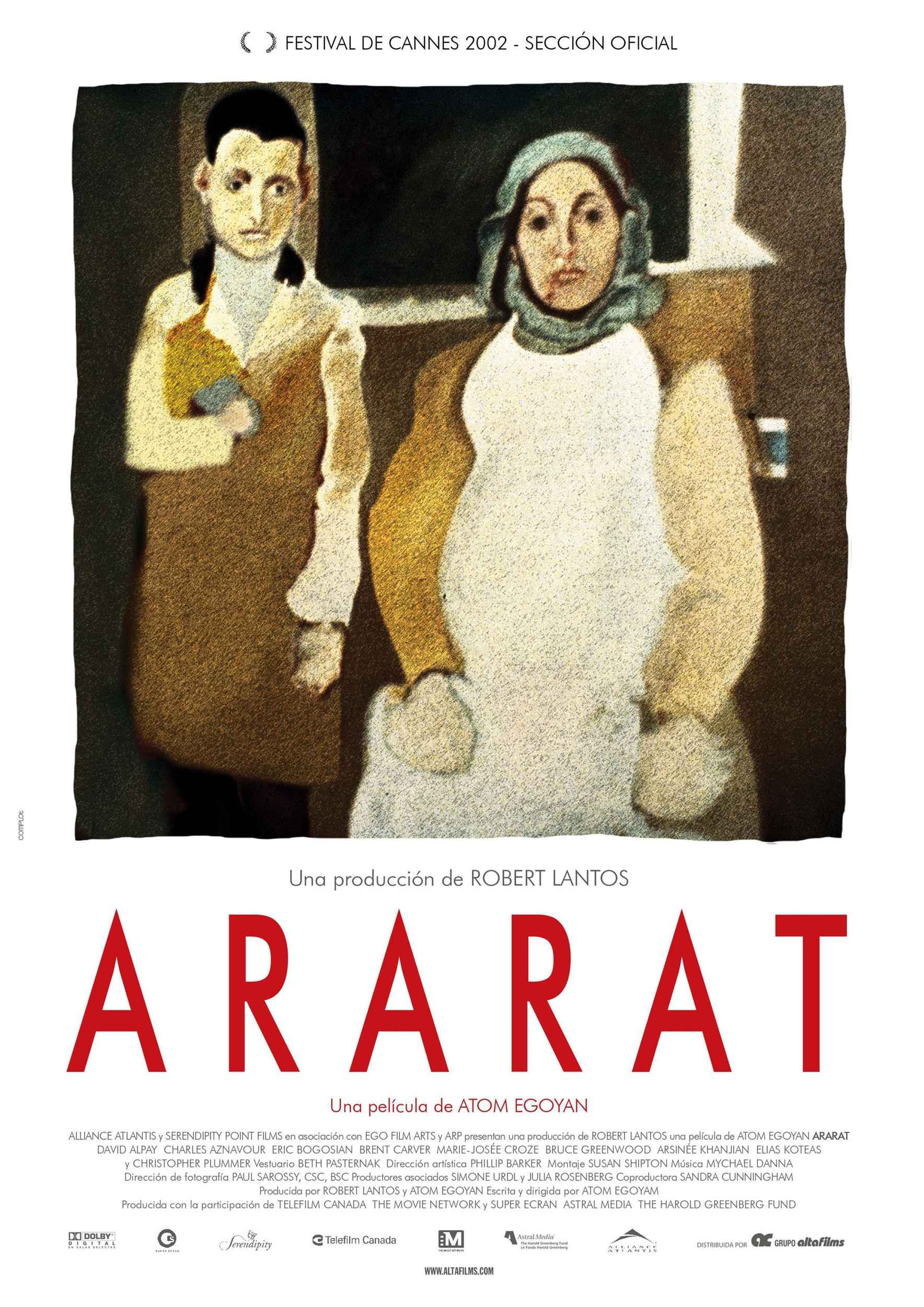 "poster for ""Ararat"" by Atom Egoyan(2002)"