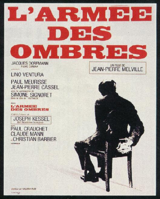 "poster for ""Arm�e des Ombres, L'"" by Jean-Pierre Melville(1969)"