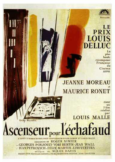 "poster for ""Ascenseur Pour L'�chafaud"" by Louis Malle(1958)"