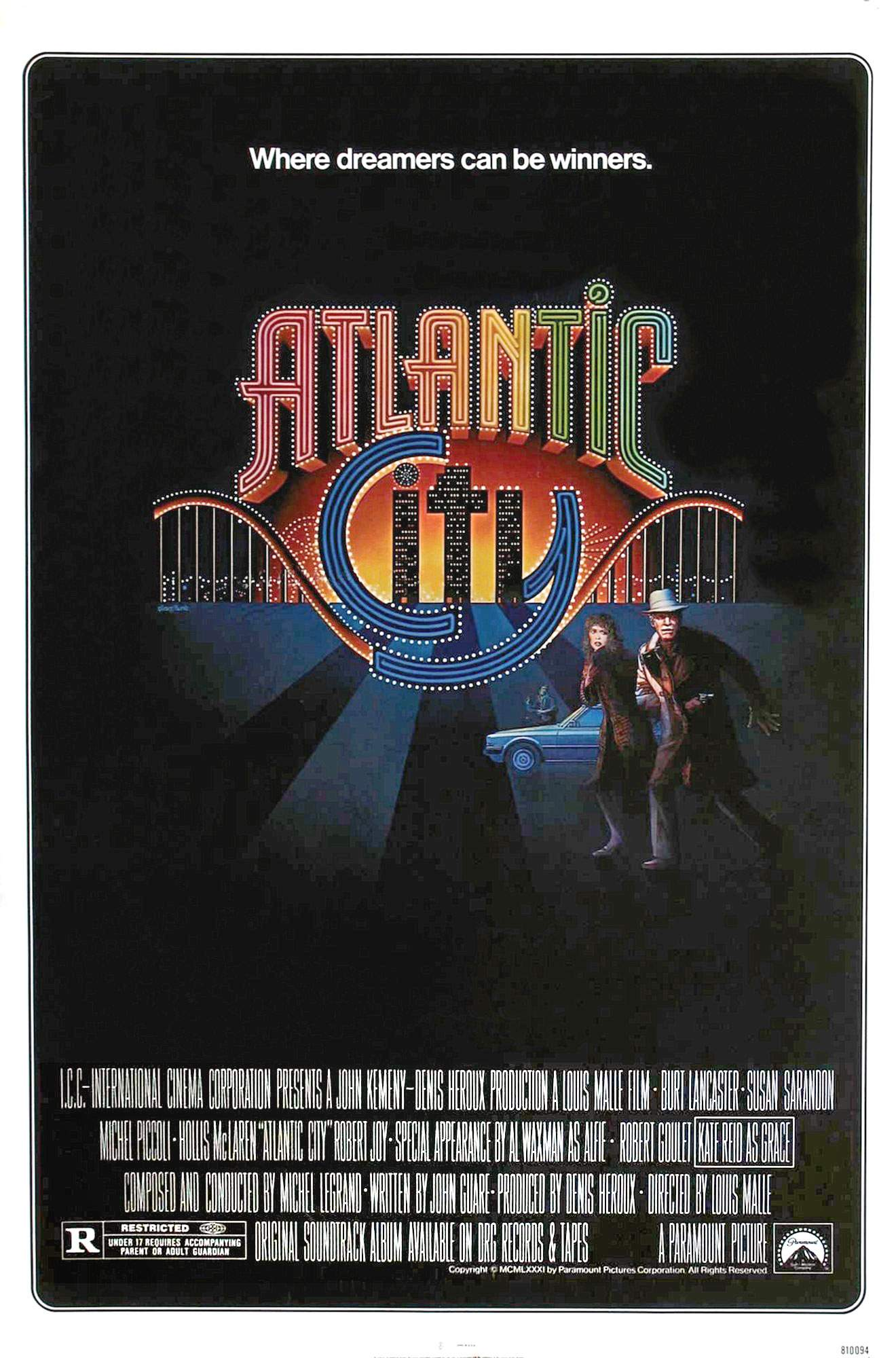 "poster for ""Atlantic City"" by Louis Malle(1980)"