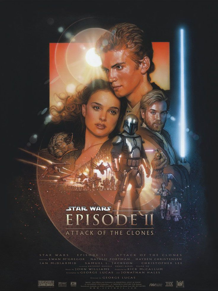 "poster for ""Star Wars: Episode II - Attack of the Clones"" by George Lucas (2002)"