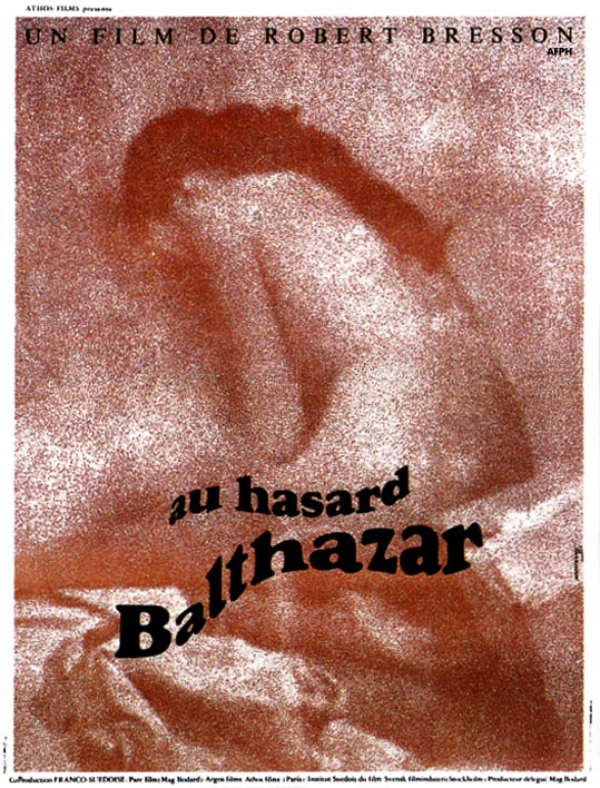 "poster for ""Au hasard Balthazar"" by Robert Bresson (1966)"